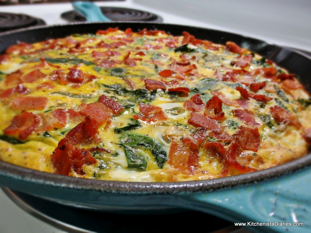 Bacon, Fennel & Kale Frittata with Sweet Potato Crust |