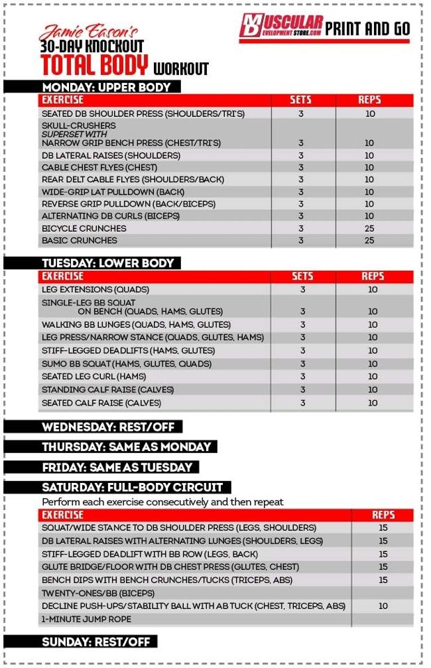 "Search Results for ""Total Gym Full Body Workout Printable Charts ..."